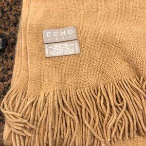 Echo Tan Scarf with Fringe   C144